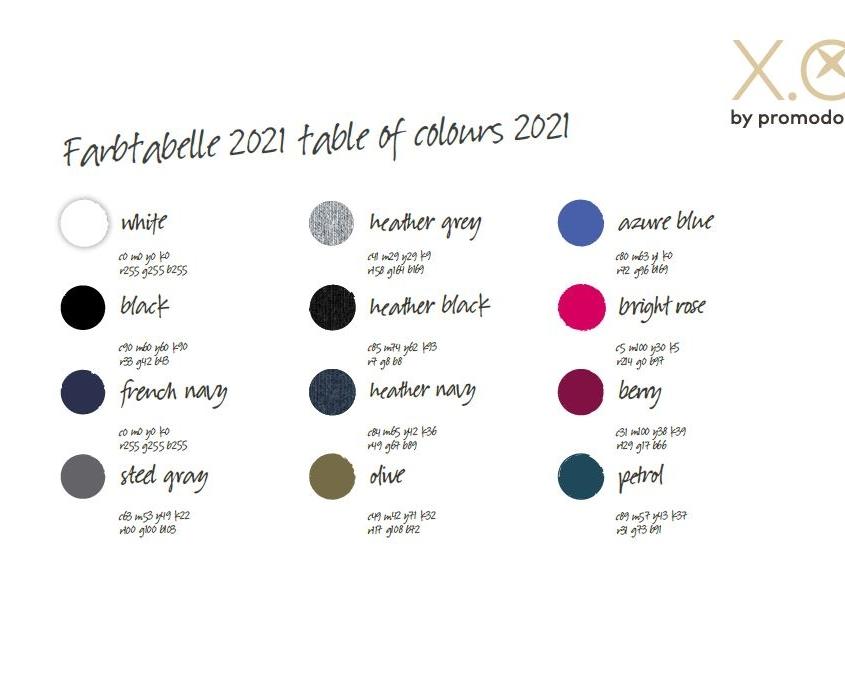 promodoro-xo-shirts-farbkarte-2021